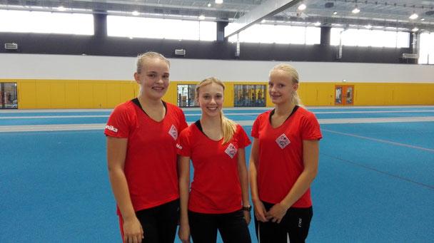 links nach rechts: Annika Schepers, Sophie Hellmuth, Viviana Böckheler