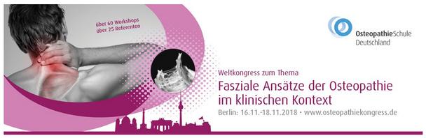 Osteopathie Kongress 2018 in Berlin
