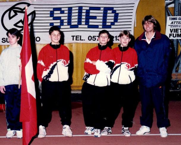 ANNO 1995 4°cl. SVIZZERA - ROGER FEDERER (1° da sinistra)