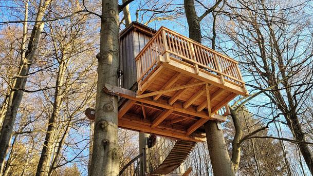 Baumhaus Kobel im Wald, Bild: Baumhaushotel Solling