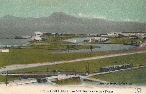 Carthage. Vue sur les Ports Puniques TGM Boukornine