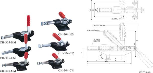 Schubstangenspanner mit Gußkörper CH-304-CM, CH-304-EM, CH-304-HM
