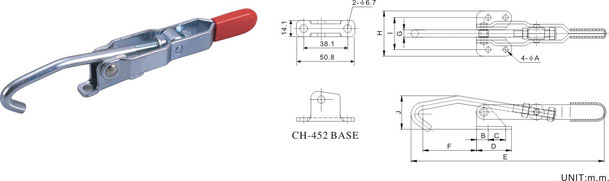 Latch type / hook type toggle clamp CH-451, CH-452, CH-40371 and CH-43810