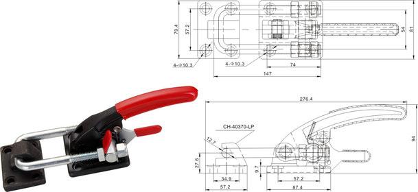 Verschlussspanner-Bügelspanner schwere Ausführung CH-40360-ST und CH-40370-LP