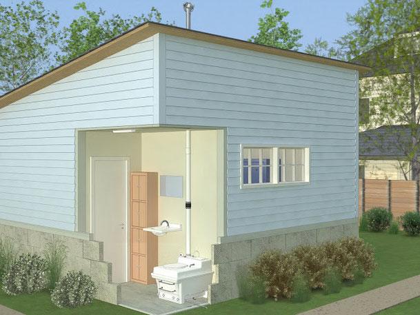 バイオトイレの世界基準エンバイオレット WSCタイプ設置イメージ