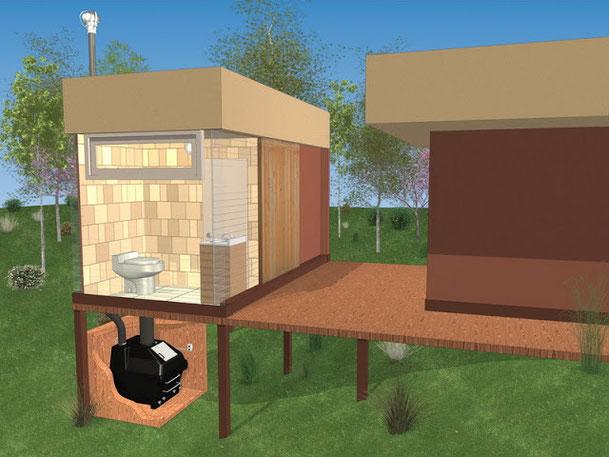 バイオトイレの世界基準エンバイオレット WRSタイプ設置イメージ