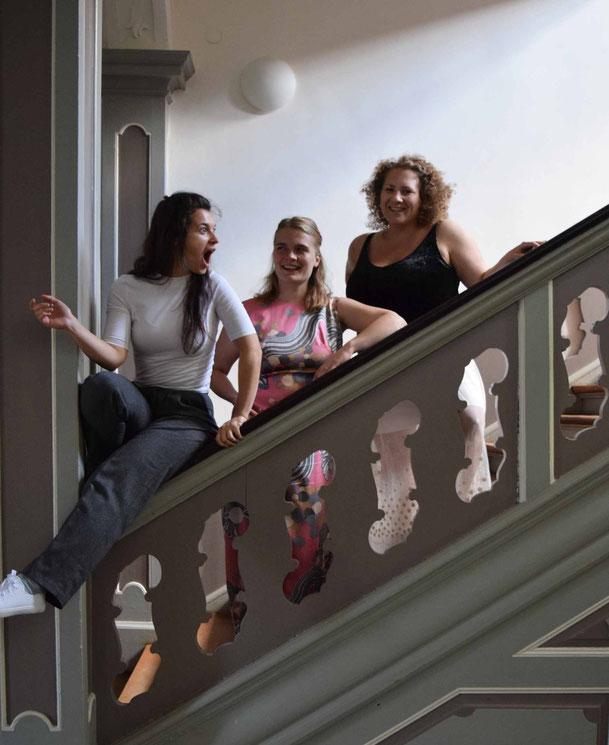 Schauspielerinnen, Anna Schimrigk, Meda Gheorghiu-Banciu, Teresa Schergaut, Schloss Plüschow