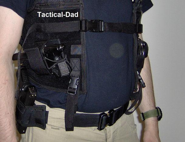 Die 5.11 Concealment Weste mit JPX. Am Gürtel hab ich die Walther PPS.