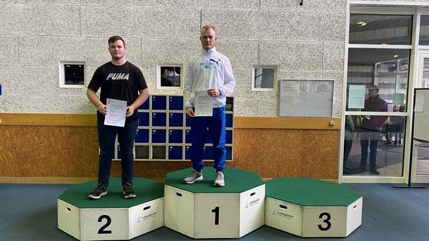 Bastian Küver bei der Siegerehrung.
