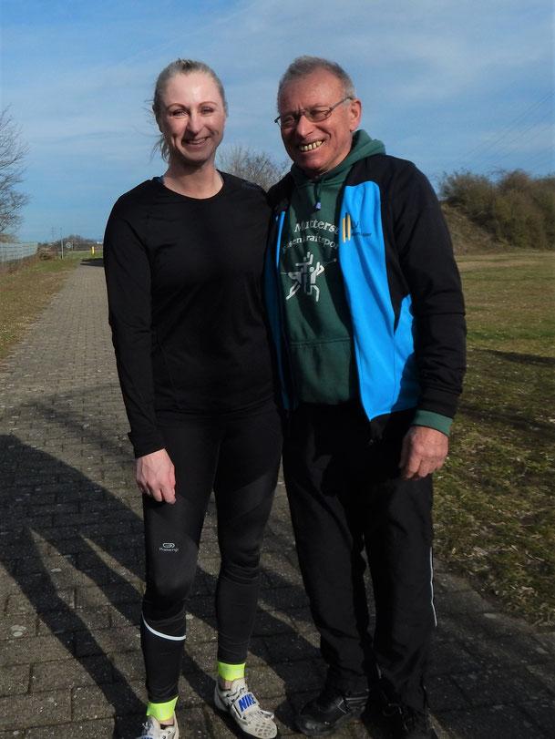 Die überragende Natascha Wolf und Oberkampfrichter Hans Jocachim Heinzel.