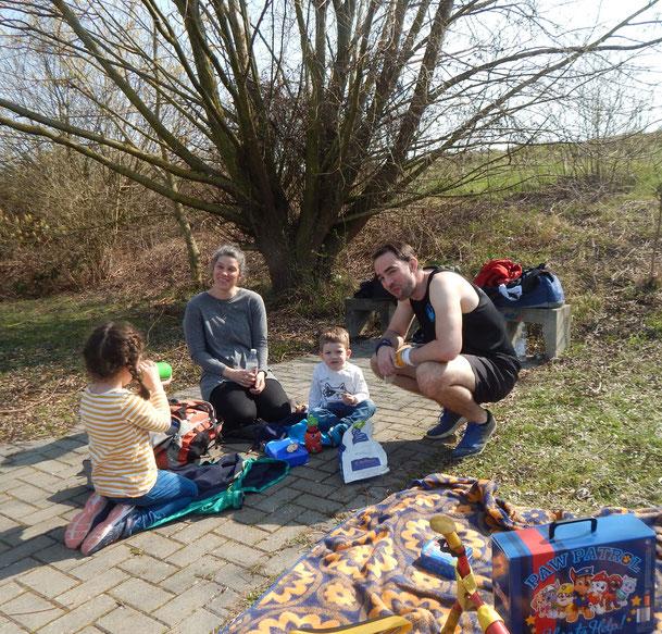 Familie Schäfer mit weiteren Nachwuchswerfern.