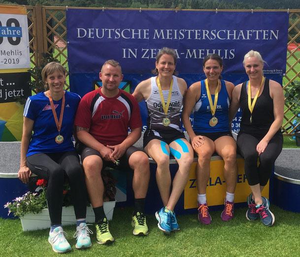 Die erfolgreichen 5! V. l. n. r.: Renate Ansel - Maik Arendt - Bettina Schardt - Anne Reuschenbach - Natascha Wolf!