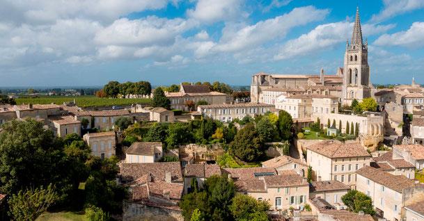 Vue de Saint-Émilion, village classé UNESCO