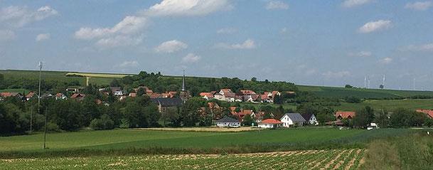 Panoramafoto Ottersheim - Juni 2016