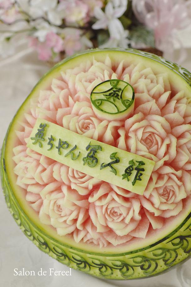 カービング スイカ 教室 フルーツ 彫刻 大阪 オーダー