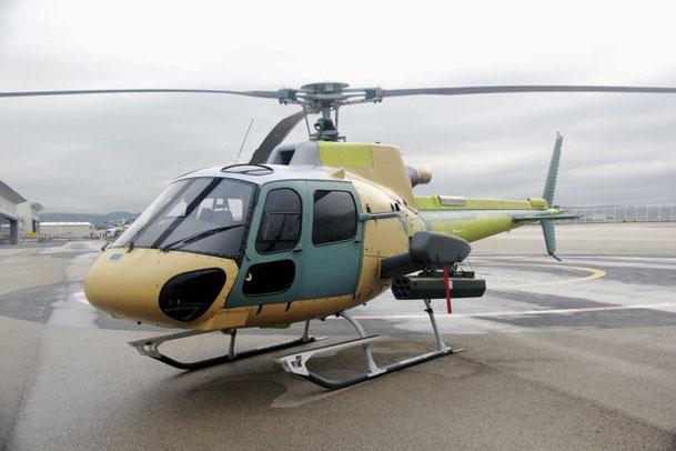 Airbus H125M con un altro  modulo del sistema HForce GWS  installato. (Foto: Airbus Helicopters)