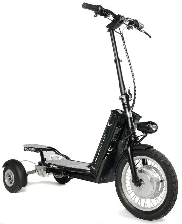 Bikeboard Runner mit 4 Zoll Rädern hinten ohne Sitzgarnitur!