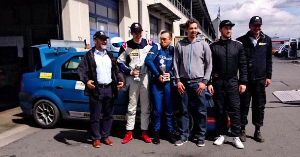 Dennis Bröker und Lucian Aron 2.Platz beim 3.Lauf ADAC Dacia Logan Cup 2018 Pfister-Racing Team