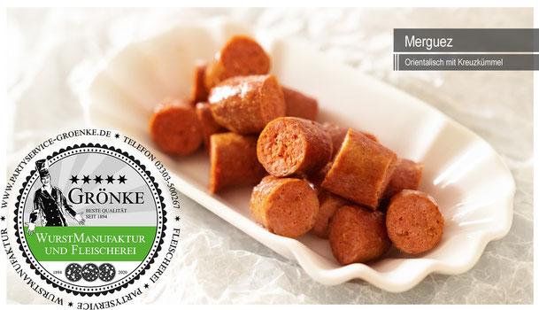 Merguez, die Grillwurst aus der Wurstmanufaktur & Fleischerei Martin Grönke