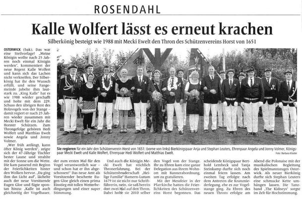 Zeitungsbereicht aus der Allgemeinen Zeitung vom 02.07.2013