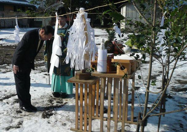 安曇野オフィス建設予定地 地鎮祭の様子 H25年01月06日(九紫大安)Digital Camera Lumix