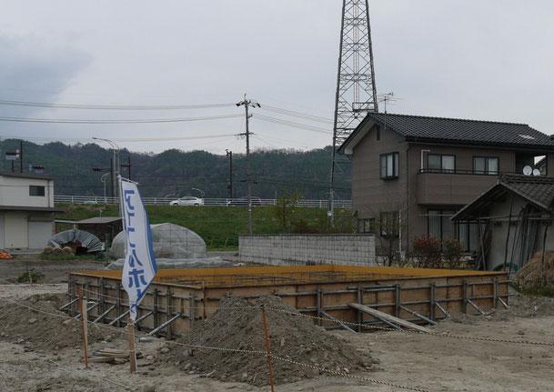 AVSA安曇野オフィス特注基礎部ベタ工事完了 H25年03月27日
