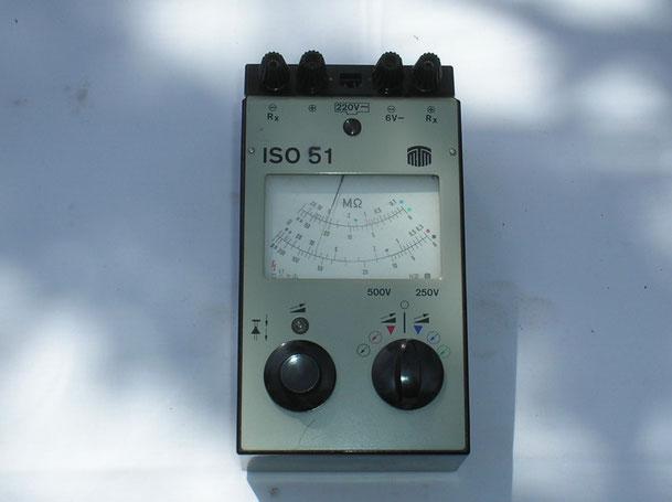 MTM Messtechnik Mellenbach DDR  Isolations Messgerät Typ. ISO  51 von  1978