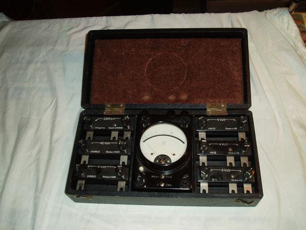 Gossen  Set. Universal Widerstands Messgerät mit zusatzwiderständen
