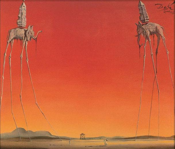Самые известные картины Сальвадора Дали - слоны