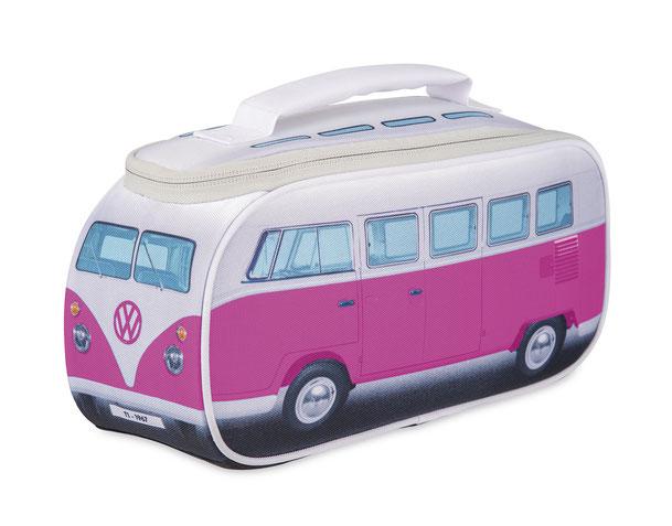 Brotzeittasche, Kühltasch, pink, VW T1 Bus, Bulli
