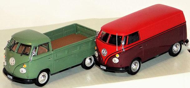 VW Bulli Bus, VW Bulli Transporter, Schuco 1:43