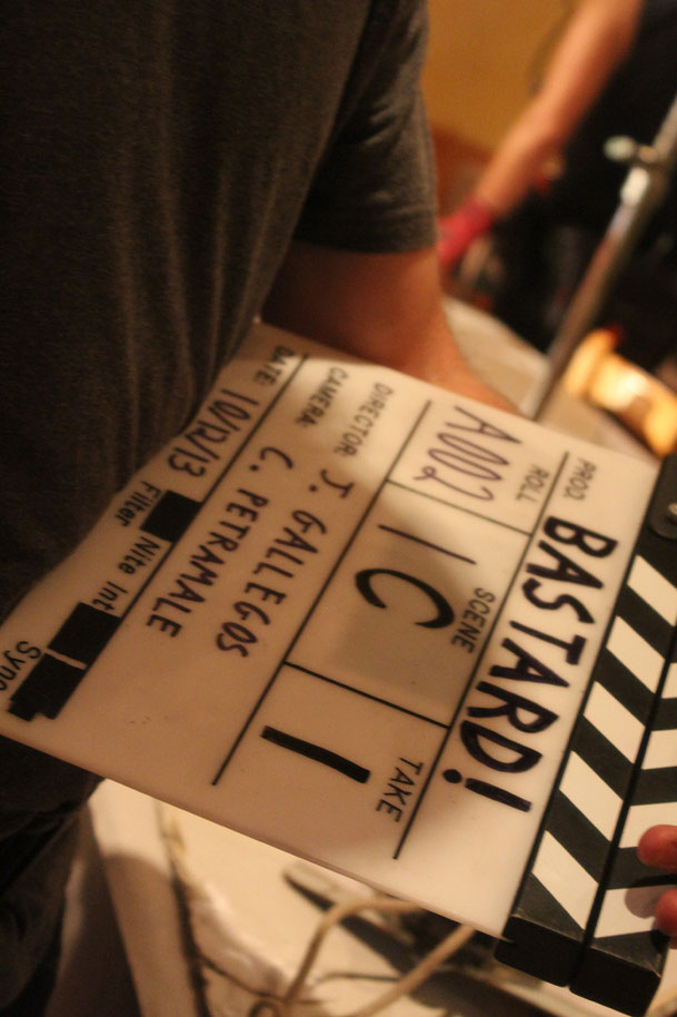 "Directly from the set of ""Bastard"", directed by John Gallegos. Music will be composed by Simone Cilio."