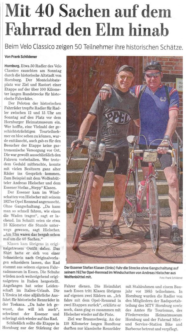 Artikel der Braunschweiger Zeitung vom 30.04.2018