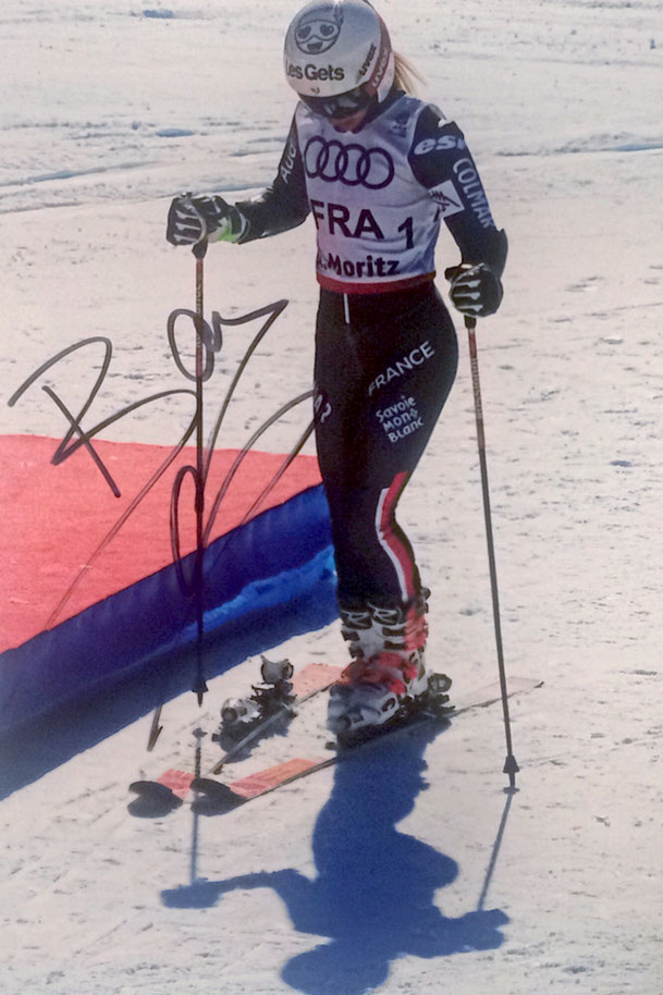 Adeline Baud-Mugnier, Worldchampion Team Event 2017, Picture taken at Worldchampionship St. Moritz, Autograph by Mail