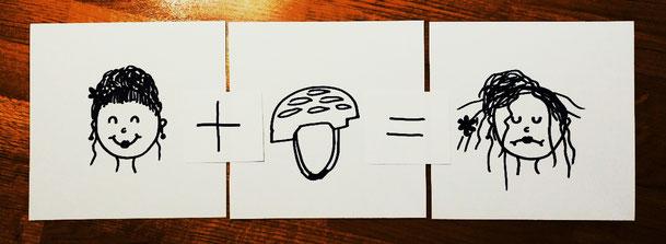 Frisur + Helm = zerzaust