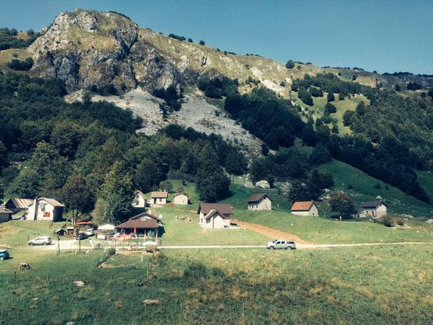 Wunderschöne Bergwelt an der Grenze zwischen Slowenien und Italien