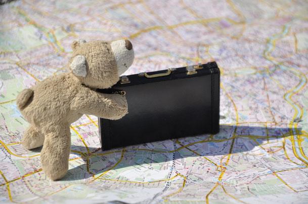 Stups der Bär - auf jeder Reise mit dabei