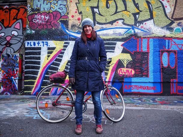 Foto der Radlerin von Daniel Böhm (Fahrrad Wien)