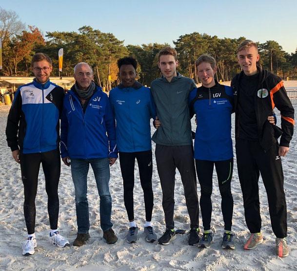 Jakob Gieße, Klaus Duppich, Samuel Fitwi, Tom Reuter, Christoph Gallo und Niclas Holper