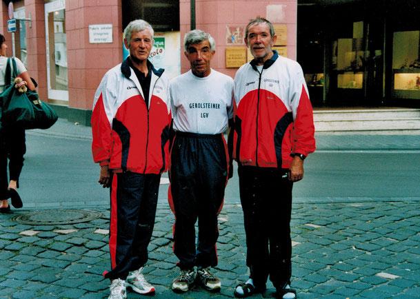 Heinz Maciohsek (l.) mit Ferdi Theisen (m.) und Heinz Reifferscheid (r.) bei den Westdeutschen HM Meisterschaften in Traben-Trarbach (2006)