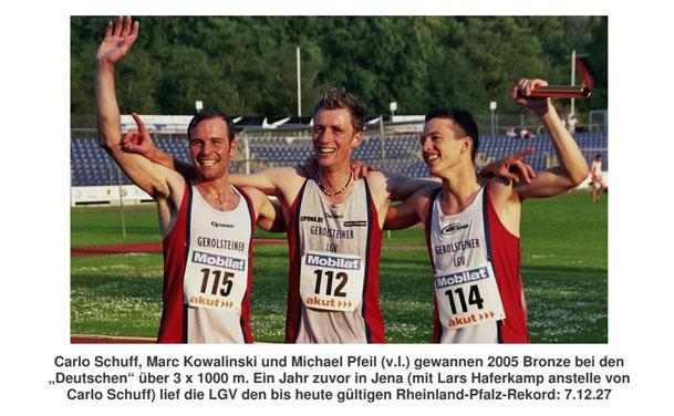 Dieses Foto zeigt unsere erfolgreichen Leistungsträger aus 2005. In den letzten drei Jahren ist die LGV wiedererstarkt und somit konnten viele neue Einträge in der Statistik verbucht werden.