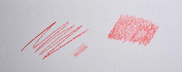 Technique d'application crayons de couleur mouvements va et vient.