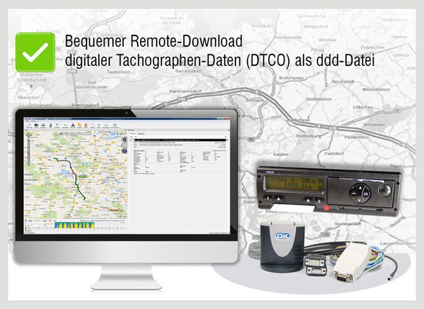 Tacho Remote Download der digitalen Tachographen-Daten (DTCO)