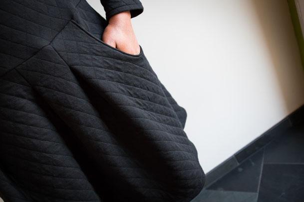 robe matelassée, modes et travaux_super bison_danse des aiguilles