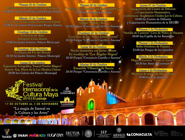 Festival Internacional de  la Cultura Maya octubre / noviembre  2013