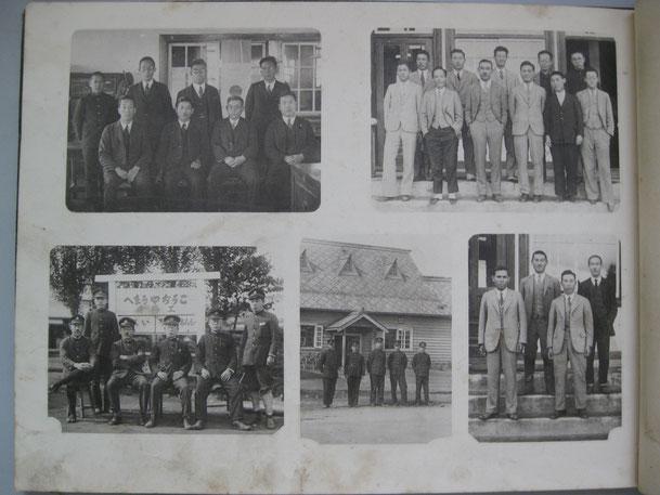 写真下の中央 グラバウ氏家族が住んでいた宿舎を移築、駅舎として使用された。