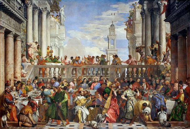 パオロ・ヴェネローゼ「カナの婚礼」、1562-63年、ルーブル美術館所蔵
