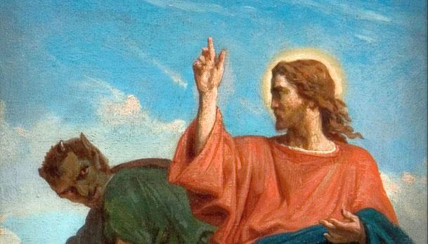 フェリックス・ジョゼフ・バリア「悪魔によるキリストの誘惑」、1860年、フィルブルック美術館所蔵