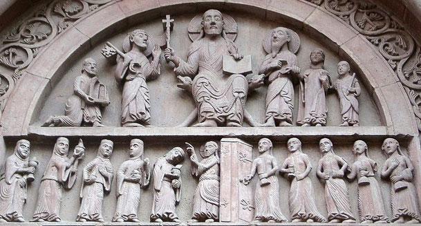 スイスのバーゼル大聖堂ガルス門(Mueffiin derWikipedia auf Deutsch、詳しくは画像をクリック)