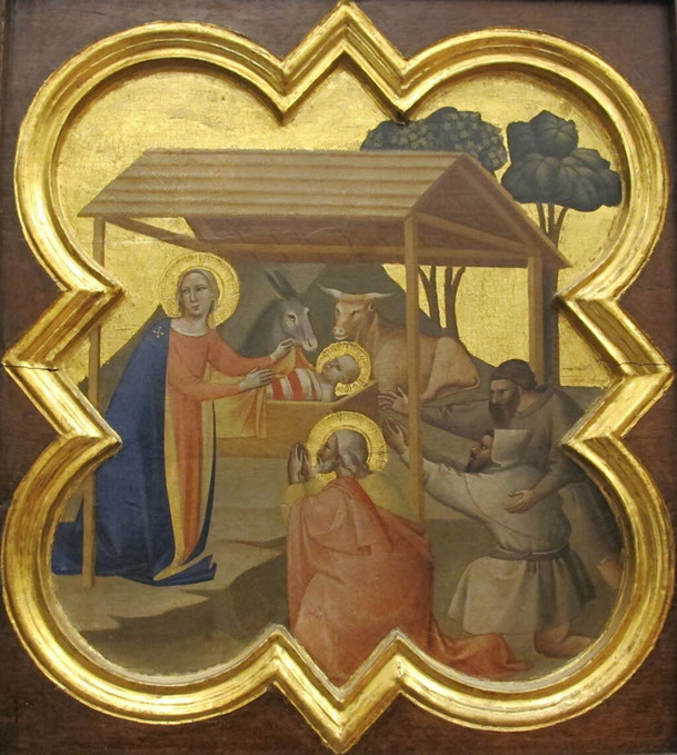 タッデオ・ガッディ「降誕」、1335ー40年、聖十字架聖堂(フィレンツェ)